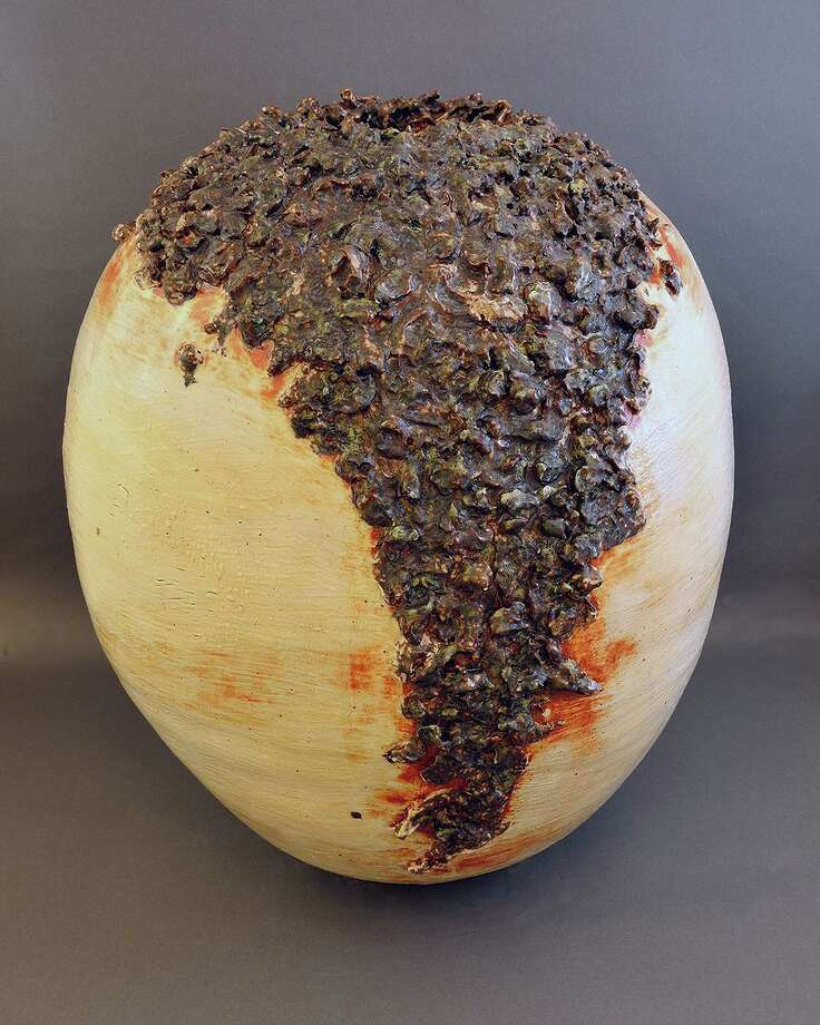 After 15 years, ceramic artist Phyllis Savage will be closing her Savage Studio in Danbury at the end of the year. To mark the occasion, she has announced a Farewell Ceramic Show and Sale Dec. 6-23. Pictured is Lava Flow Vessel. Photo: Savage / Contributed Photo
