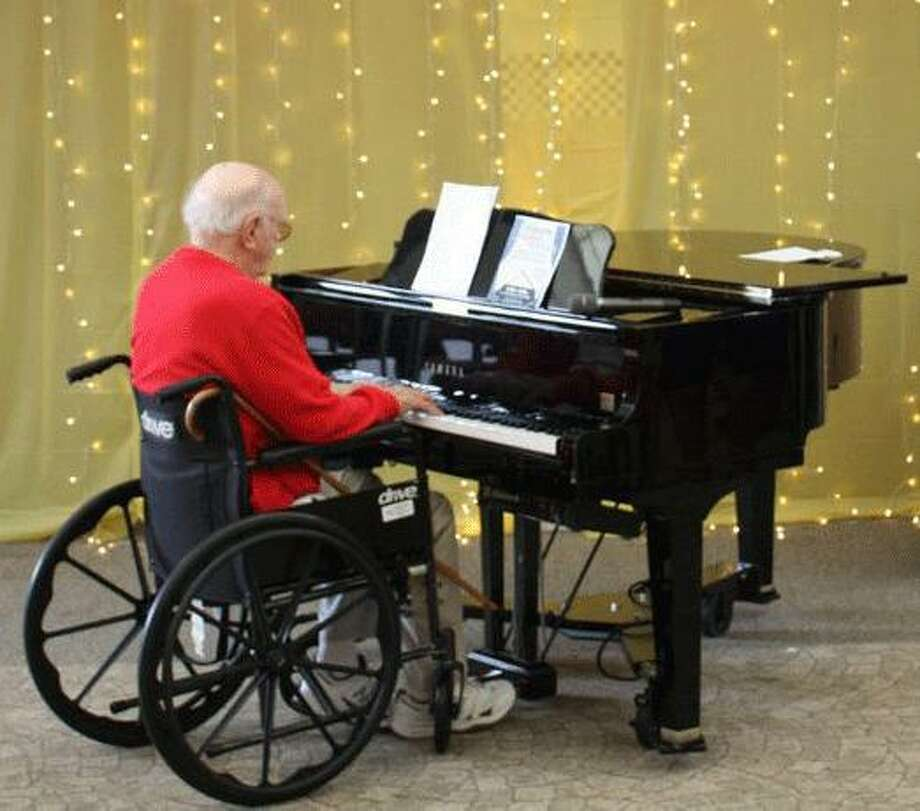 Pictured isDr. Charles Crown playing the piano at a Summer Showcase performance in the Summer of 2018 at the Waveny LifeCare Network building, which is located at 3 Farm Road in New Canaan, Connecticut. Photo: Contributed Photo
