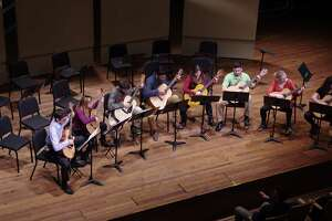 The Skidmore Guitar Ensemble (image from Skidmore Music Department / Livestream.com)