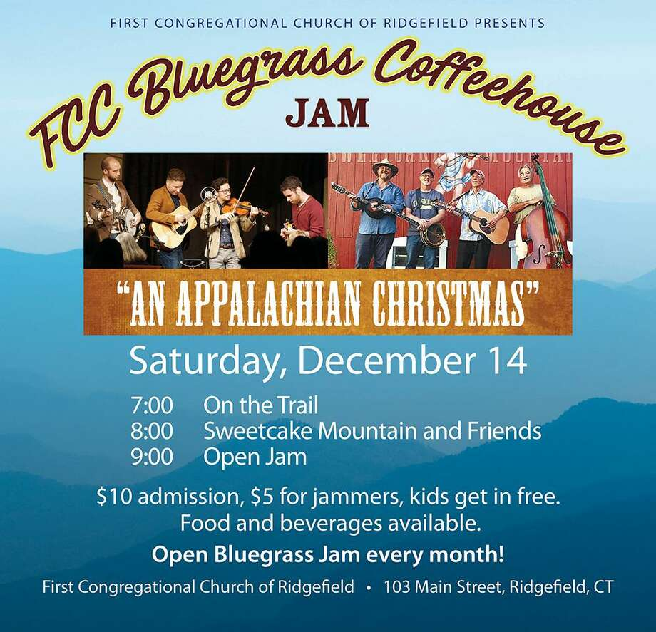 "FCC's Coffeehouse presents ""Appalachian Christmas-Bluegrass Style"" on Saturday, Dec. 14, from 7-10 p.m., at the First Congregational Church of Ridgefield. Photo: Contributed Photo."