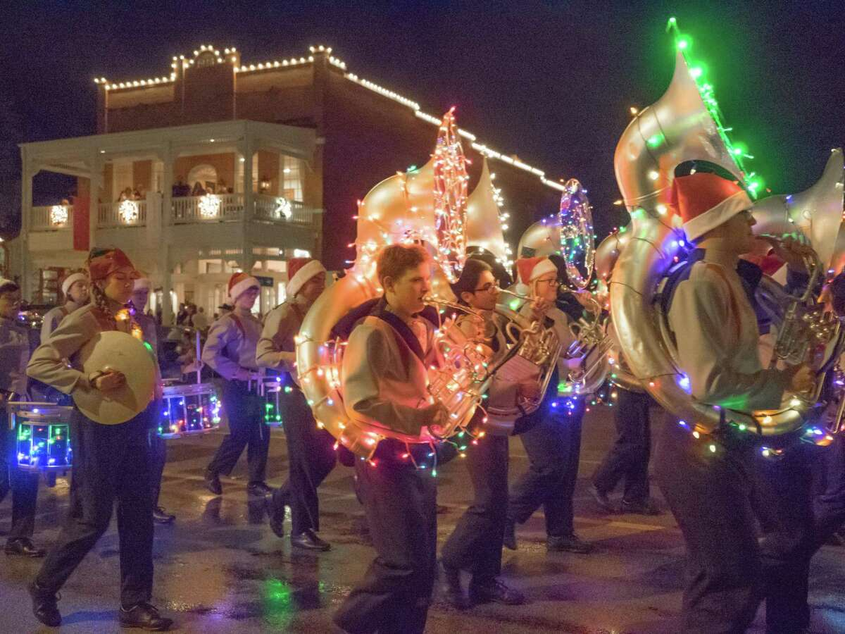 For Fredericksburg's Light the Night Christmas Parade, more than 130 bands, floats, animals and more parade down Main Street.