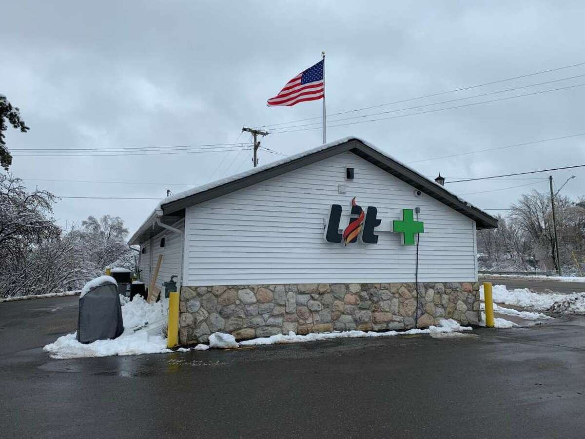 Lit Provisioning Center, 600 W. 7th St., in Evart, is pictured Tuesday. Lit will become the first northwest Michigan outlet to sell recreational marijuana when it opens Friday morning.