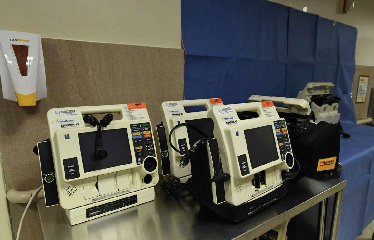 Defibrillators are among the items from Nix Health to be sold at an online auction next week. Refurbished defibrillation units start at about $1,200 each.