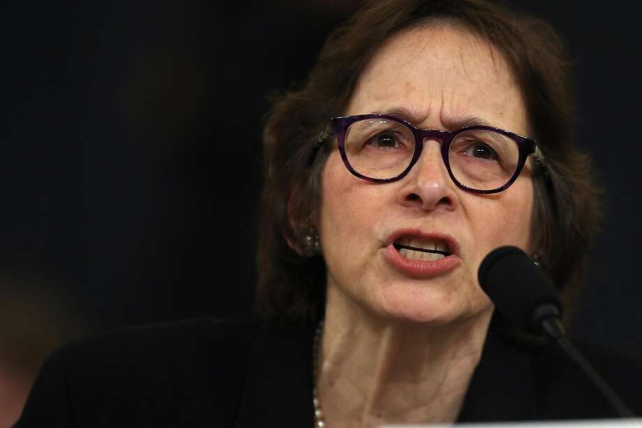 WASHINGTON, DC - DECEMBER 04:  Constitutional scholar Pamela Karlan of Stanford University testifies before the House Judiciary Committee in the Longworth House Office Building on Capitol Hill December 4, 2019 in Washington, DC. This is the first hearing held by the House Judiciary Committee in the impeachment inquiry against U.S. President Donald Trump, whom House Democrats say held back military aid for Ukraine while demanding it investigate his political rivals. The Judiciary Committee will decide whether to draft official articles of impeachment against President Trump to be voted on by the full House of Representatives. (Photo by Chip Somodevilla/Getty Images) Photo: Chip Somodevilla, Getty Images