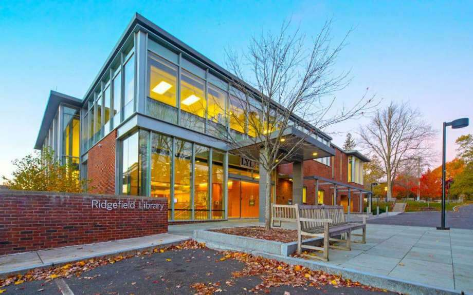 The Ridgefield Library provides a wide variety of resources and services to the community. Photo: Contributed Photo.