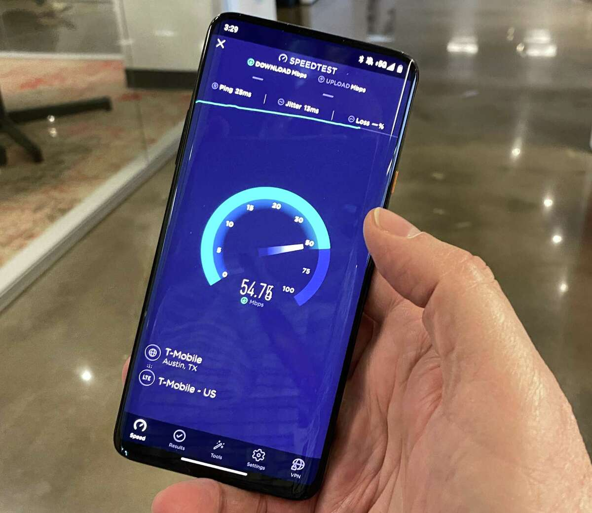 T-Mobile says its 5G speeds are about 20 percent faster than those of 4G LTE. But the carrier is in the process of integrating Sprint's faster 5G network, and future phones will have zippier speeds.