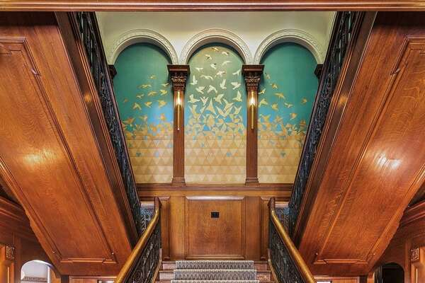 Grand staircase and skylight