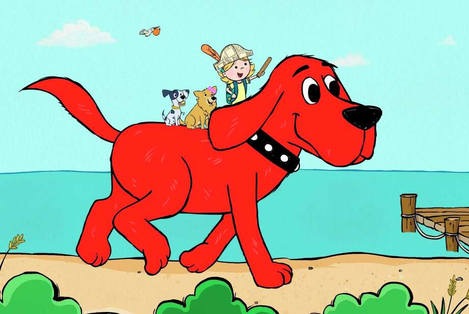 This image released by Scholastic Entertainment shows a scene from the reboot of  a€œClifford the Big Red Dog.a€ The new show offers more diversity among the human characters and puts Clifforda€™s beloved 7-year-old owner, Emily Elizabeth, front and center in his Birdwell Island adventures. (Scholastic Entertainment via AP) / Scholastic Entertainment