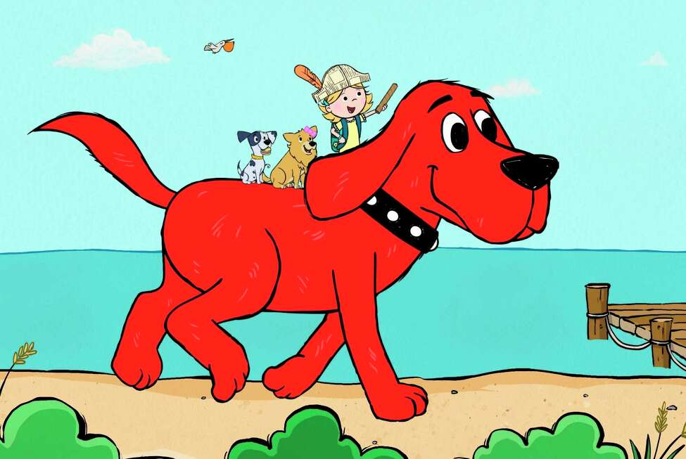 This image released by Scholastic Entertainment shows a scene from the reboot of a€œClifford the Big Red Dog.a€ The new show offers more diversity among the human characters and puts Clifforda€™s beloved 7-year-old owner, Emily Elizabeth, front and center in his Birdwell Island adventures. (Scholastic Entertainment via AP)