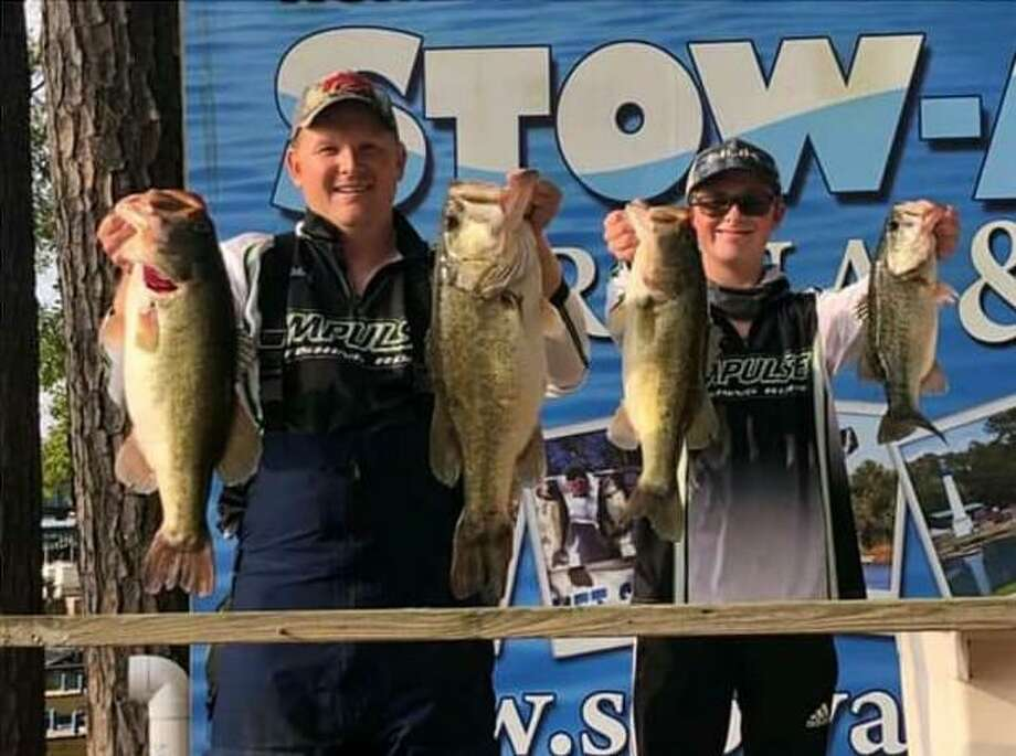 """The team of Copeland and Copeland won The Bass Club Annual Charity Event with a total stringer weight of 20.23 pounds. Matt Russell of The Bass Club said, """"I witnessed more than a few prayers answered on this day and I just wanted to say thank you God. Overall between the raffles, auctions, angler compassion, and one anonymous donor we were able to raise a total of $14340.00 in support the Stringer family."""" Photo: The Bass Club"""