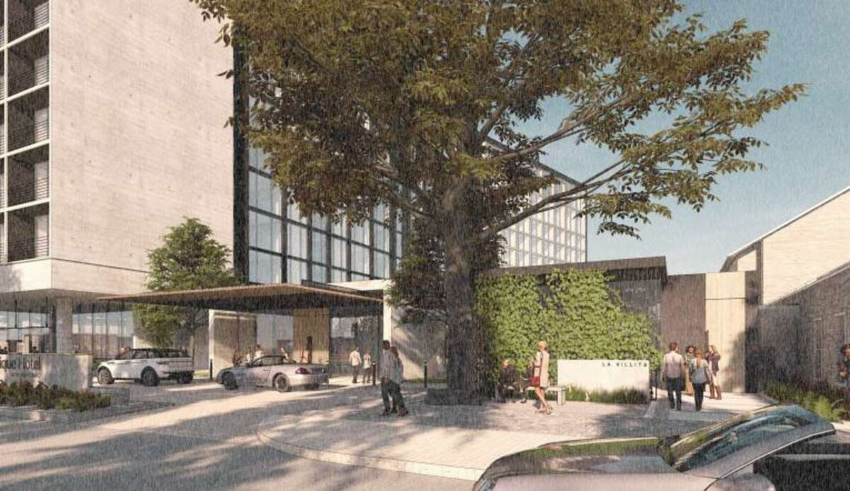 White Lodging wants to build a 9-story, 275 room hotel with a rooftop bar on South Alamo Street.