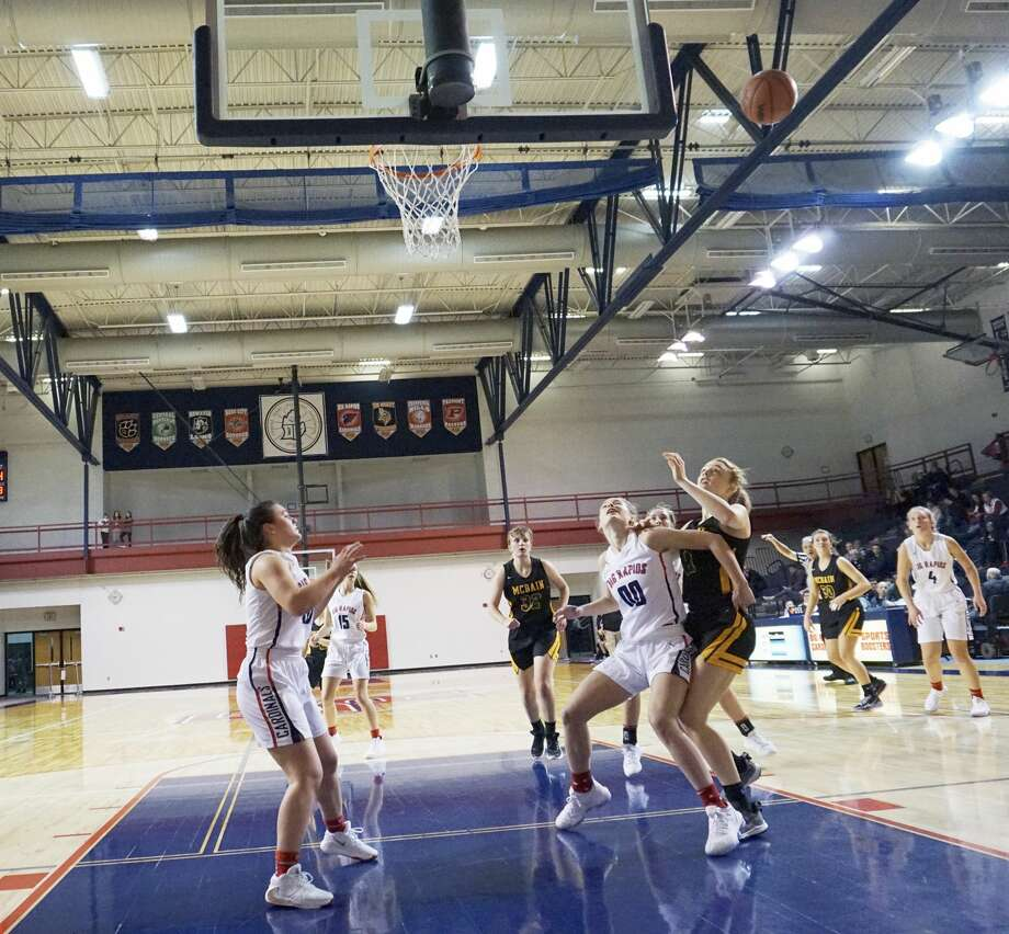 Big Rapids' girls basketball team defeated McBain 49-45 to open the regular season on Tuesday night at the Big Rapids High School gym. Photo: Joe Judd