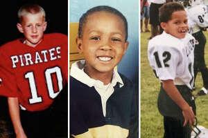Houston Texans players as children, from left: DeAndre Hopkins, J.J. Watt and Kenny Stills.