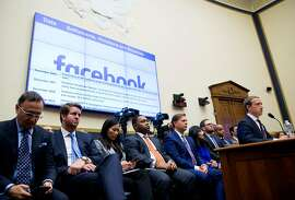 FILE -- Mark Zuckerberg, the Facebook chief executive, testifies at a House Financial Services Committee hearing on Capitol Hill in Washington, Oct. 23, 2019. Just before Thanksgiving, Facebook rolled out something to help its workers: a chatbot that would teach them official company answers for dealing with thorny questions. (Eric Thayer/The New York Times)