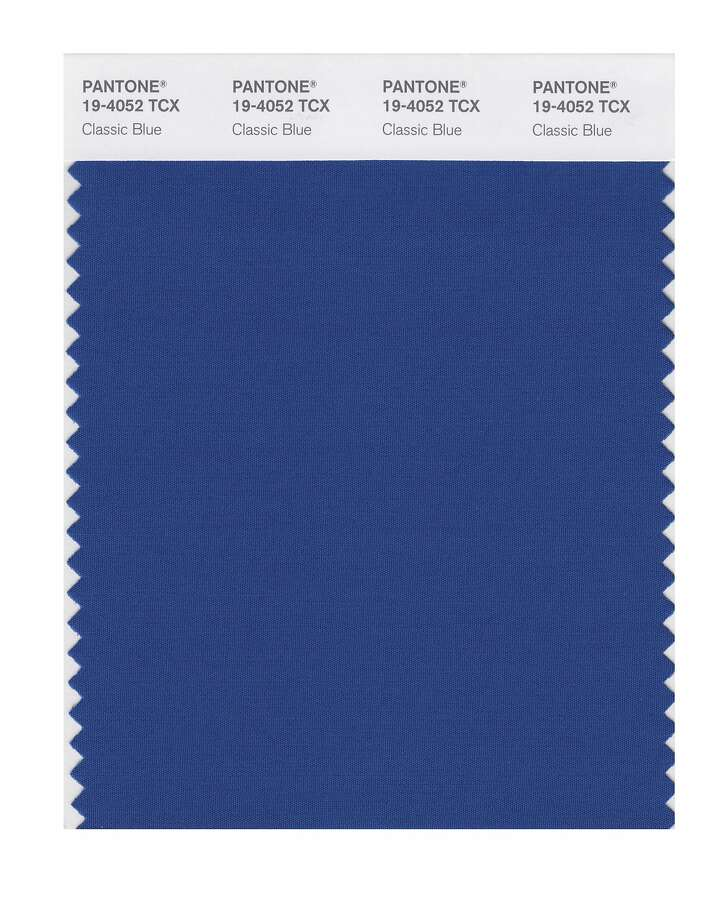 This image released by Pantone shows a classic blue color swatch. The Pantone Color Institute has named Classic Blue as its color of the year for 2020. (Pantone via AP) Photo: Associated Press