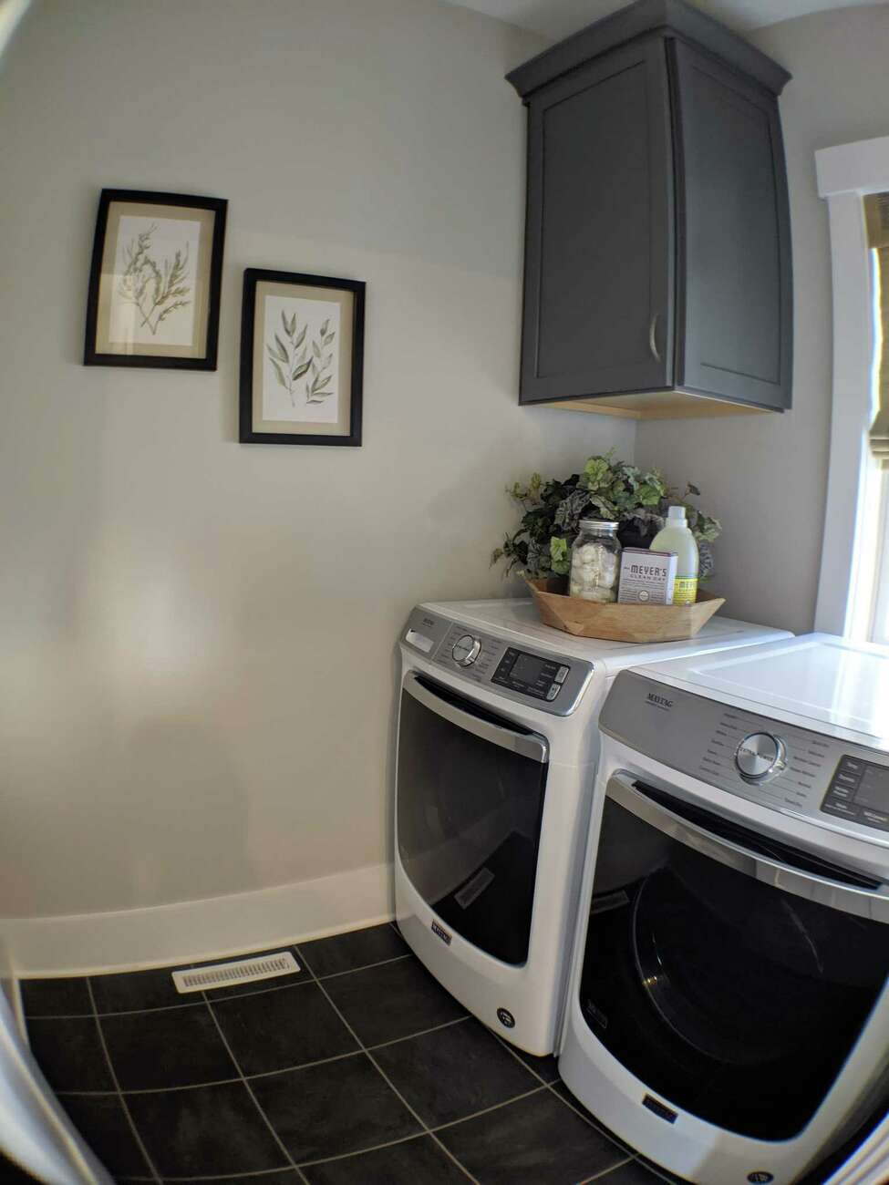 The laundry room inside a house by Bella Homes on the 2019 Saratoga County Showcase of Homes. (Photo by Eli Conklin)