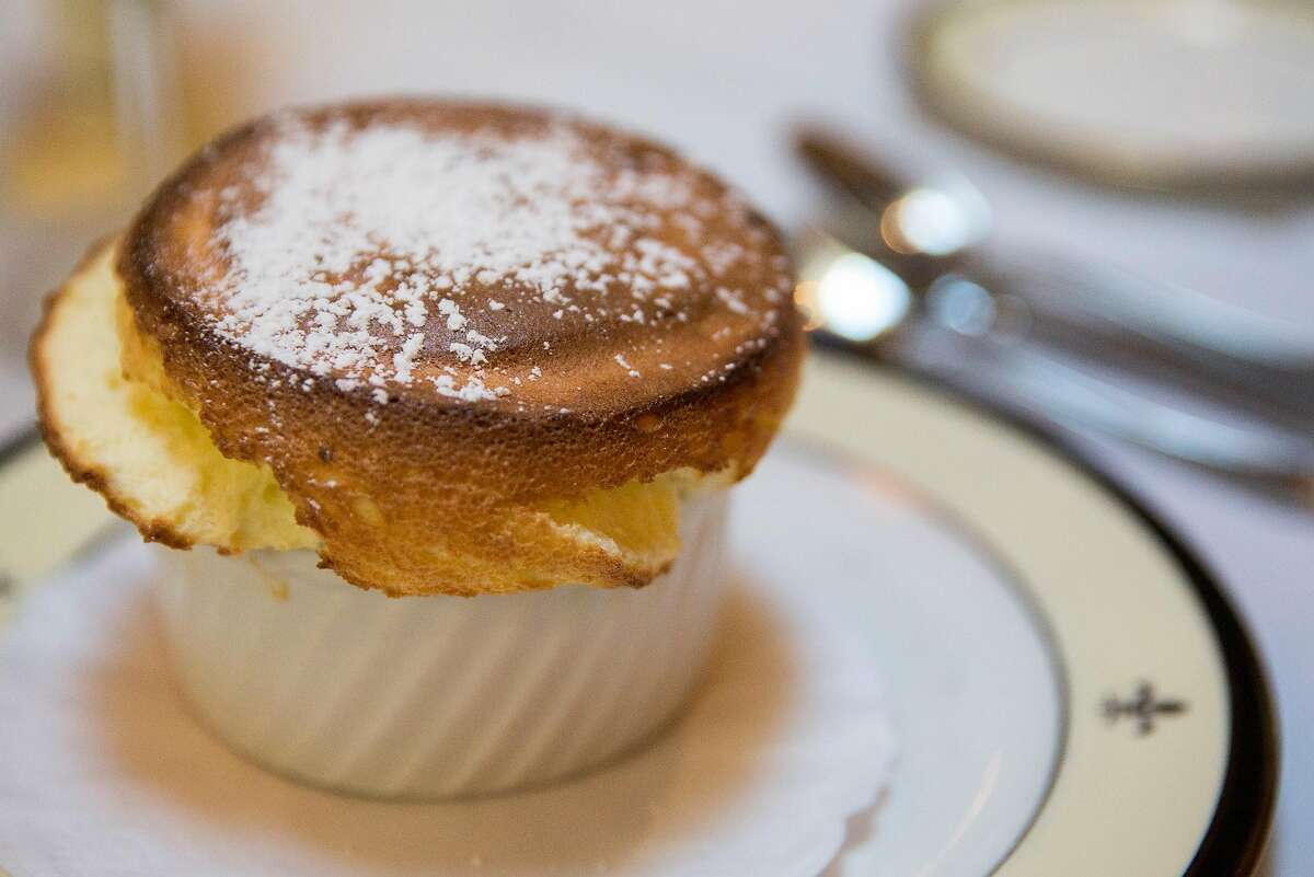The Grand Marnier souffle photographed at Jeanne d'Arc restaurant inside Cornell Hotel de France in San Francisco, Calif. Wednesday, Oct. 17, 2018.