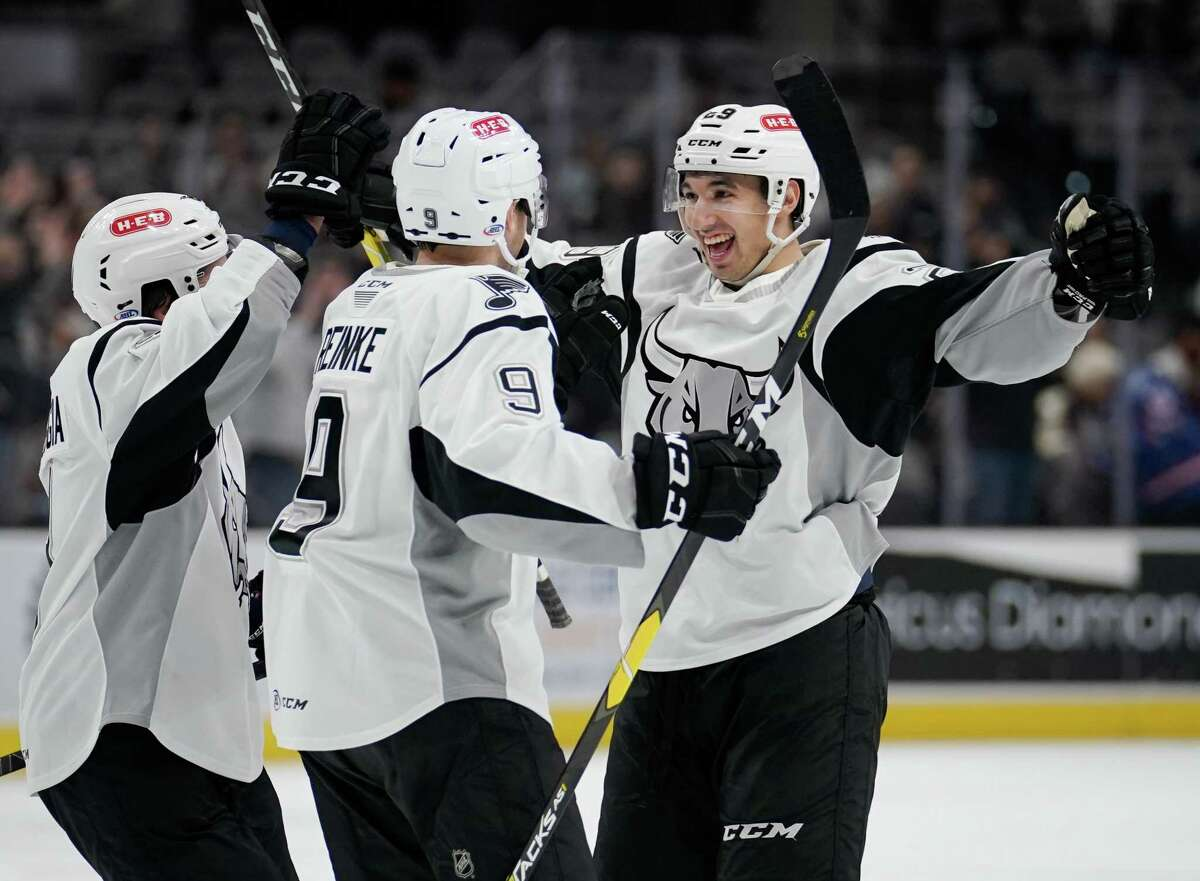 The Iowa Wild play the San Antonio Rampage during the second period of an AHL hockey game, Wednesday, Dec. 4, 2019, in San Antonio. (Darren Abate/AHL)