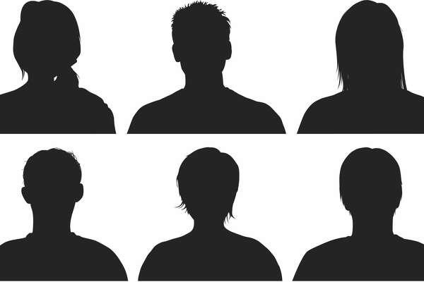 Half people silhouettes.
