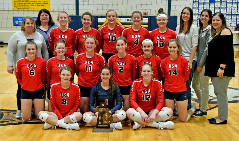 The USA volleyball squad was named the Thumb Sportswriters Association's Volleyball Team of the Year. Photo: Thumb Sportswriters Association