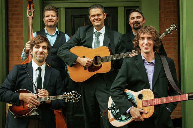 River Bend Bluegrass Band Members, left to right, Andy Novara, Will Miskall, Aaron Muskopf, Kris Shewmake and Blake Korte. River Bend will perform Saturday at Jacoby Arts Center in Alton for its third annual and locally held holiday show.
