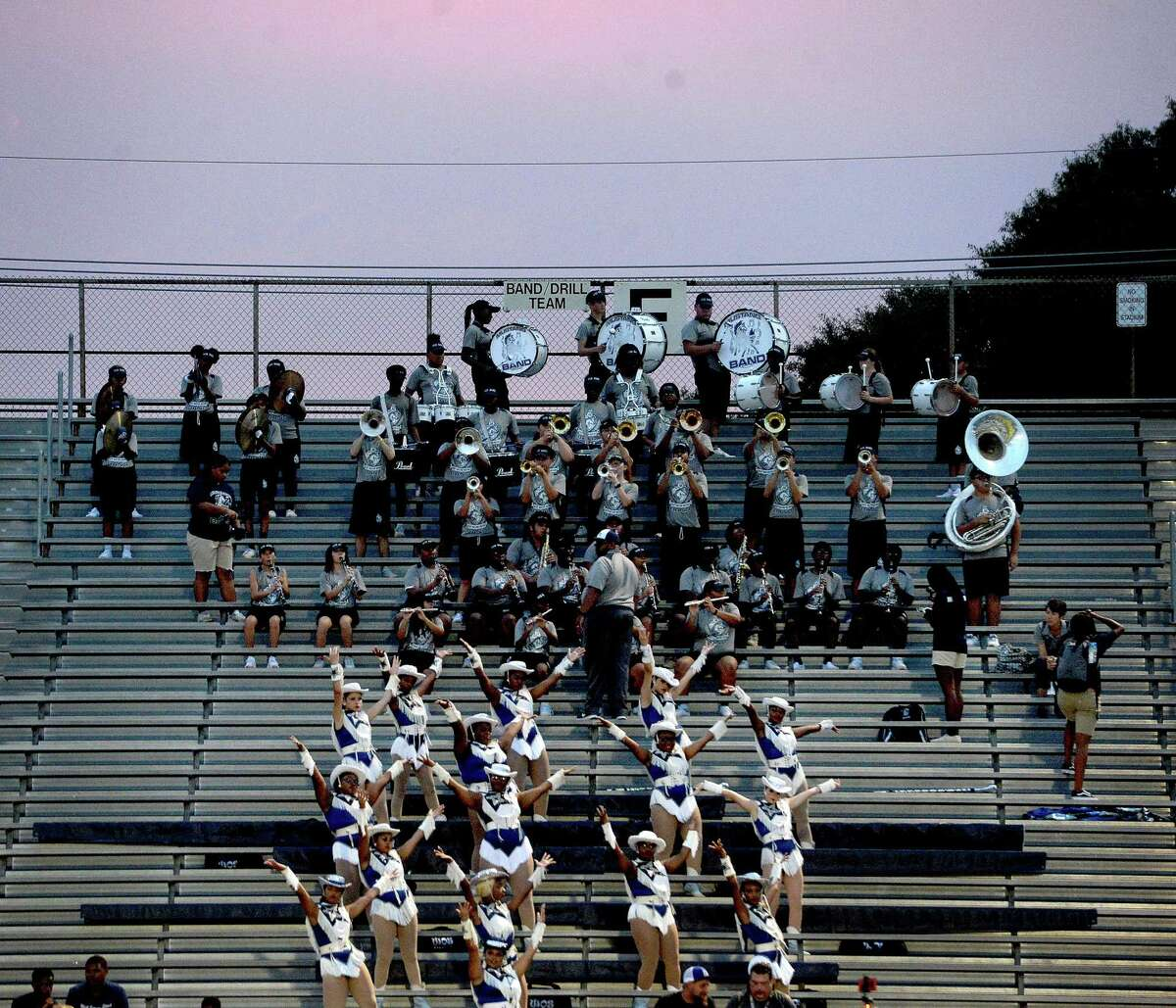 West Orange - Stark's fans root on the Mustangs during their season opening match-up Friday night in Nederland. Photo taken Friday, August 30, 2019 Kim Brent/The Enterprise