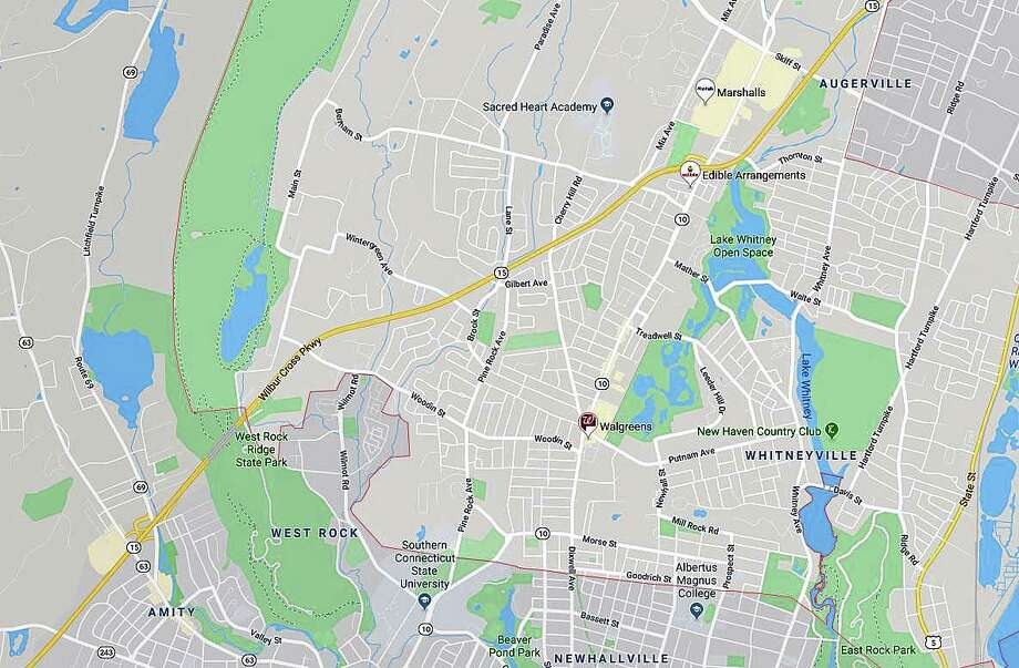 A multi-vehicle The accident, reported at 5:07 a.m. on Thursday, Dec. 5, 2019 has closed the southbound lanes of the Wilbur Cross Parkway between Exits 60 and 59. Photo: Google Maps
