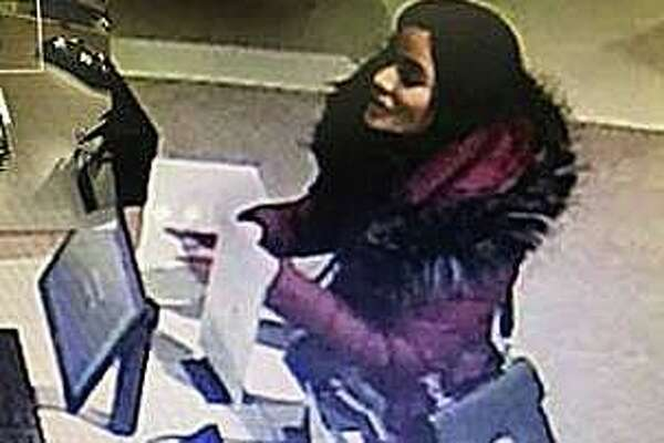 New Canaan police are looking for this woman who used stolen credit cards to go on a more than $12,000 spending spree at Norwalk's new mall. On Wednesday, Dec. 4, 2019, police posted on Facebook photos of the woman enjoying her day at The SoNo Collection mall. Police said the woman used the stolen cards during the shopping binge on Thursday, Nov. 14, 2019.