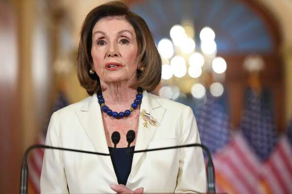 Speaker of the House Nancy Pelosi speaks about the impeachment inquiry of US President Donald Trump at the US Capitol in Washington, DC, on December 5, 2019.