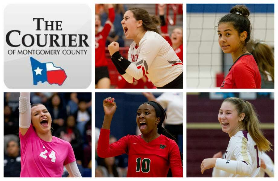 Splendora's Kayla Martin, Oak Ridge's Julia Neveu, College Park's Caley Caffey, The Woodlands' Amanda Ifeanyi and Magnolia West's Ally Wendel are The Courier's nominees for Defensive MVP. Photo: Staff Photos