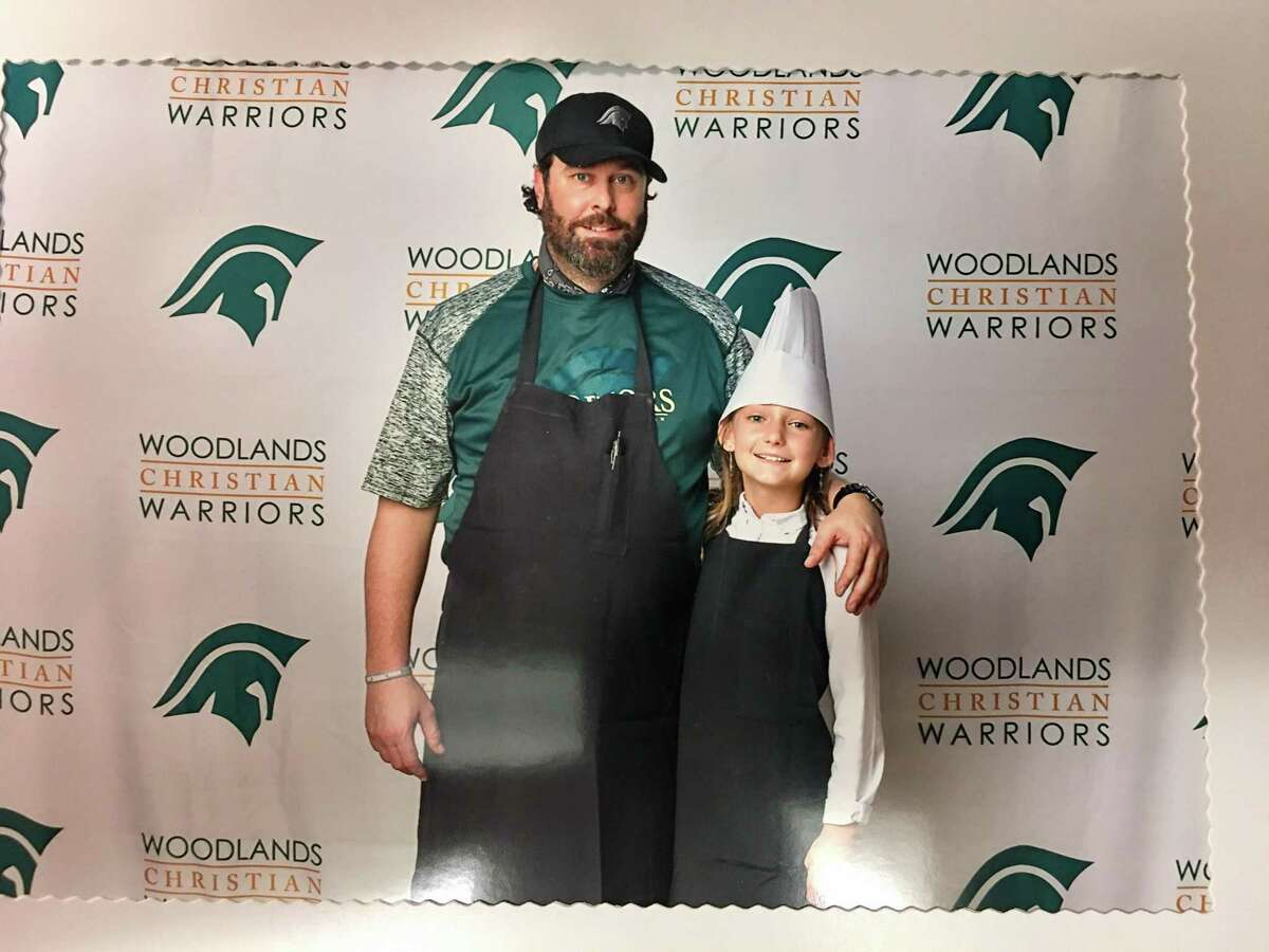Sean Smith, pictured here with his daughter, knew that the restaurant and culinary industry was where he loved to be, but he never expected to end up running a kitchen at a private Christian Academy in The Woodlands.