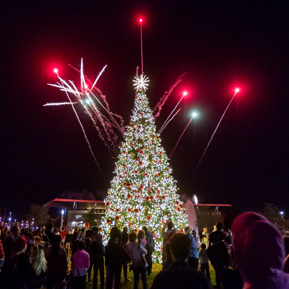 Hundreds of people came out as the City of Beaumont held their annual celebration of the lighting of the city Christmas tree on Wednesday, December 4, 2019 at the Downtown Event Centre with fireworks, live music, dance, food trucks and other vendors. Santa and the Frozen princesses were also on hand to delight the little ones. Fran Ruchalski/The Enterprise