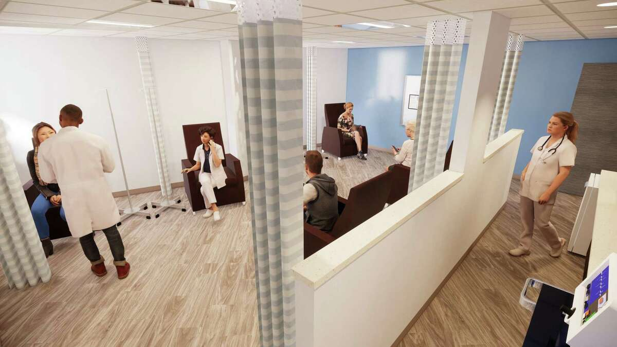 A rendering of a new oncology unit at Christus Santa Rosa Hospital - Medical Center, which will be constructed by Skanska USA. The planned renovation was announced at a groundbreaking Wednesday in the South Texas Medical Center.