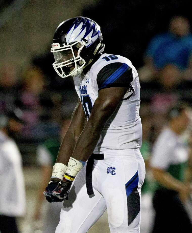 New Caney linebacker D.J. Harris is committed to the University of Texas. Photo: Jason Fochtman, Houston Chronicle / Staff Photographer / Houston Chronicle
