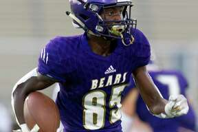 Montgomery wide receiver Tre Harden (85) was named to the District 10-5A (Div. II) first team offense.