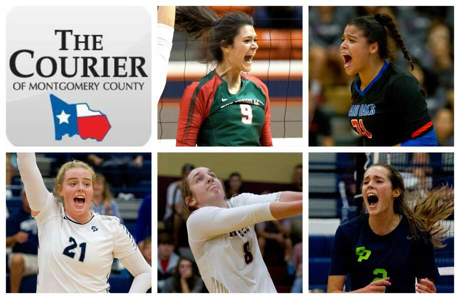 The Woodlands' Dylan Maberry, Grand Oaks' Fallon Thompson, College Park's Annie Cooke, Magnolia West's Alyssa May and College Park's Noelle Palmer are The Courier's nominees for Offensive MVP. Photo: Staff Photos