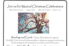 The Milford Senior Center hosts holiday events including Readings and Carols on Dec. 6.
