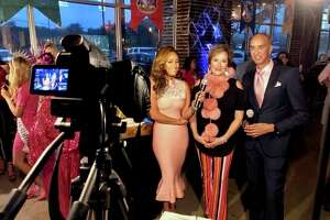 Grace Star often hires friend and emcee professional Chuck Cureau to co-host nonprofit shows like this one featuring Wings of Texas during Breast Cancer Awareness Month.