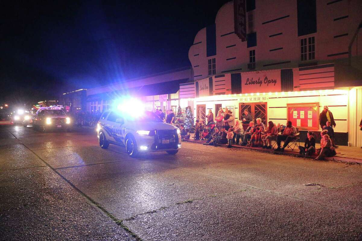 The annual Country Christmas parade began with the city of Liberty's finest police officers escorting the parade through the winding route.