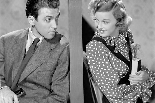 "James Stewart and Margaret Sullavan star in the 1940 film ""The Shop Around the Corner,"" which is being screened at Newtown's Edmond Town Hall Theater."