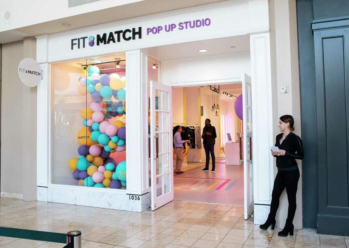 Store manager Leslie Hamilton stands outside of the Fit Match pop-up inside Baybrook Mall in Friendswood, Monday, Nov. 18, 2019.