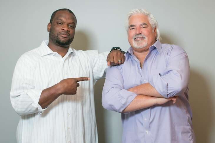"""""""In the Trenches"""" co-host N.D. Kalu (left) said he will work with guest co-hosts for the rest of the year after partner Greg Koch's retirement at the end of this week."""