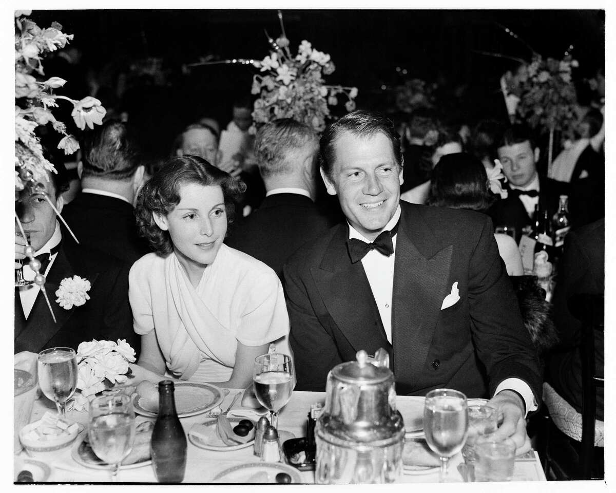 In a Dec. 7, 1937 file photo, actor Frances Dee and husband Joel McCrea attend an event in Los Angeles. Peter McCrea, son of the couple, will be speaking at the Easton Public Library on Jan. 7.