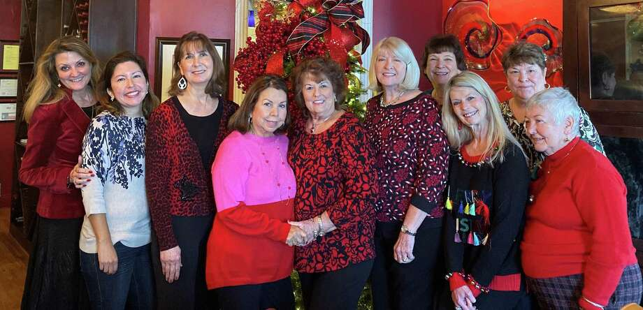The Woman's Club of Missouri City celebrated the season with its Annual Holiday Luncheon at Brandani's Restaurant where toys were collected for the Missouri City Police Department's Blue Santa and blankets were collected as gifts for Home Instead seniors. From left are Dixon Eller, Vanessa Vara, Cynthia Reyburn, Mary Abbott, Delores Messer, Beth Szescila, Nancy Thurmond, Valerie Langdon, Jane Owen and Jane Thompson. Photo: The Woman's Club Of Missouri City / The Woman's Club Of Missouri City