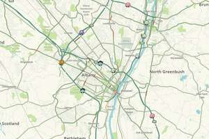 View a live, real-time map of traffic in Albany, Schenectady and Troy, by Waze here:  https://www.timesunion.com/transportation/article/Live-traffic-map-of-Capital-Region-by-Waze-14884907.php
