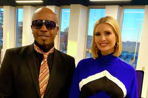 MC Hammer and Ivanka Trump tour the Indianapolis Motor Speedway on Dec. 4, 2019.