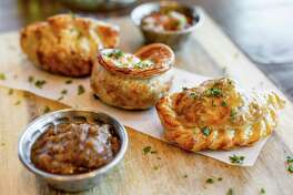 Chef Hilda Ysusi of Broken Barrel in The Woodlands says this mix of empanadas is one of the more popular appetizers available on her new menu.