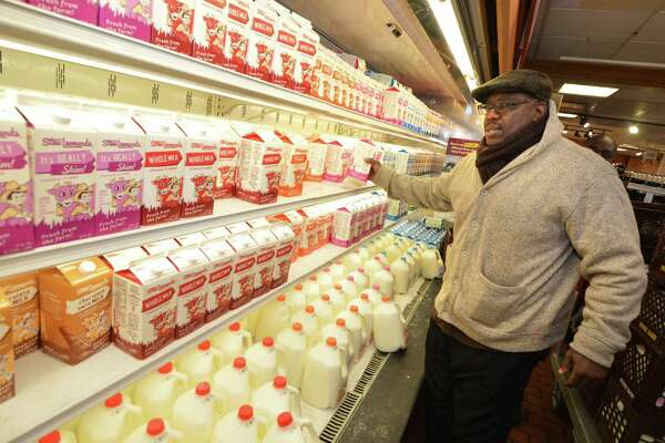 Stew Leonard's dairy section at its flagship store in Norwalk, Conn. The company's CEO confirmed it is adding its own line of plant-based dairy products in 2020.