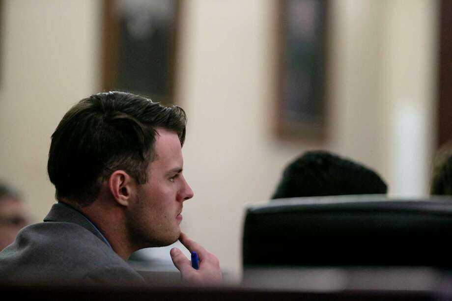 Mark Howerton listens as a witness testifies during his murder trial in San Antonio on Thursday, Dec. 5, 2019. Photo: Josie Norris /Staff Photographer / **MANDATORY CREDIT FOR PHOTOG AND SAN ANTONIO EXPRESS-NEWS/NO SALES/MAGS OUT/TV
