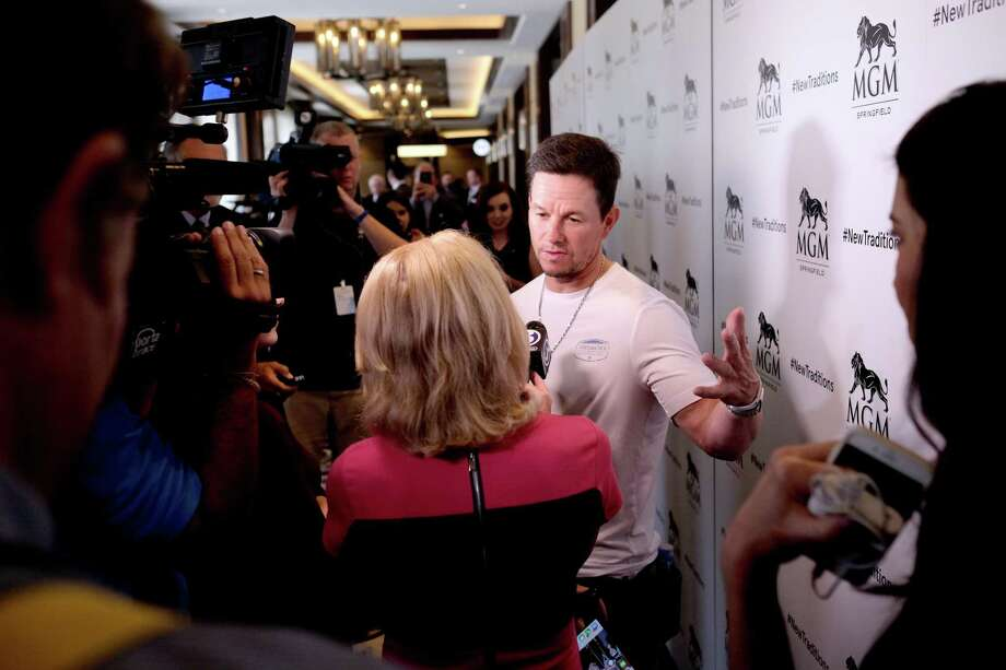 Mark Wahlberg, shown in an August 2018 visit to Springfield, announces the Wahlburgers location at MGM Springfield; the new estimate is for a summer 2020 opening. Photo: Nicholas Hunt / Getty Images / 2018 Getty Images
